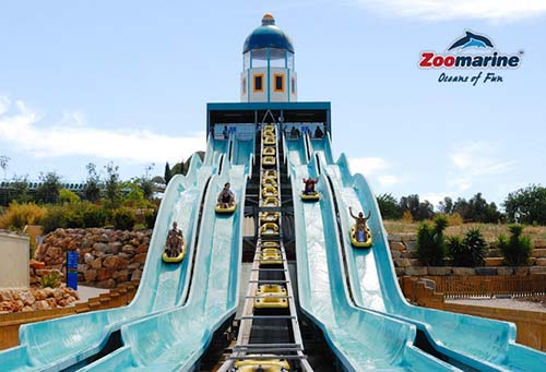 4 of the Zoomarine water slides