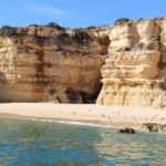 Secluded Beach stop with a tour of the caves