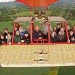 Big group in a Hot Air Balloon
