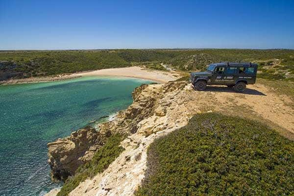 Jeep Safari on a secluded beach near Sagres