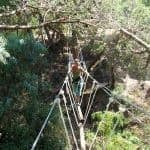 Women in High Ropes Bridge in Albufeira