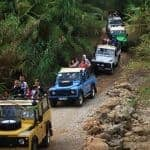 Several Jeeps on Traditional Jeep Safari Alte