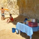 bbq on beach benagil trip vilamoura