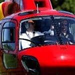 Helicopter with 2 people inside, close to the camera, Loulé.