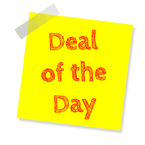 A note with a Deal of the Day promotion