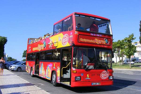 Sightseeing bus for Albufeira tour