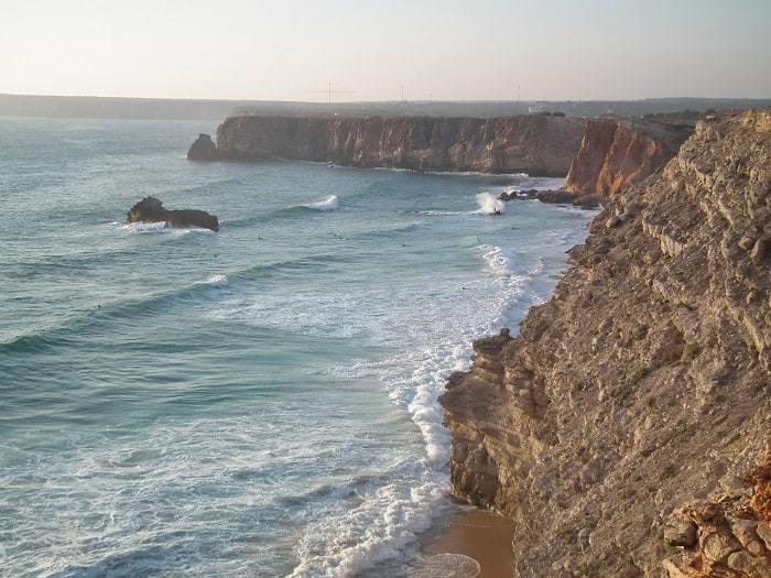 Sagres Coast view of the sea and cliffs