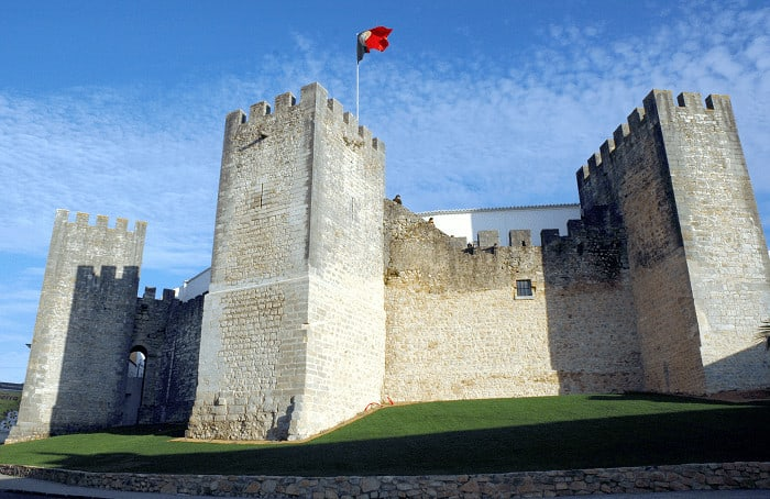 Loulé Castle with Portuguease flag