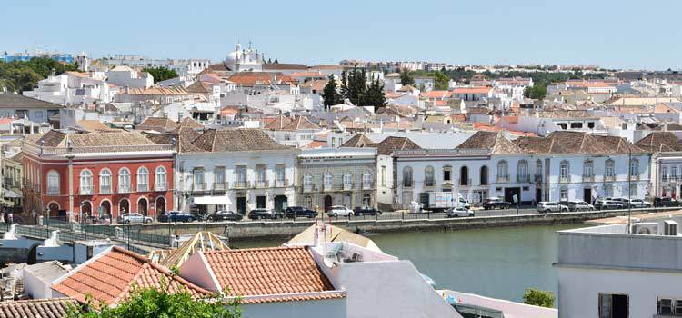 Tavira old town and river.