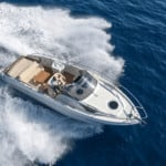 Pravate yacht frm Portimão out at sea