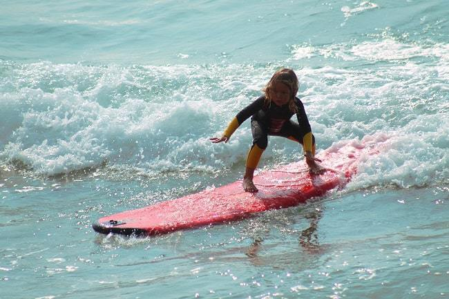 kid doing Surf