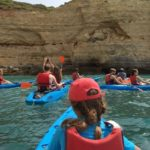 Group Kayaks Cave tour