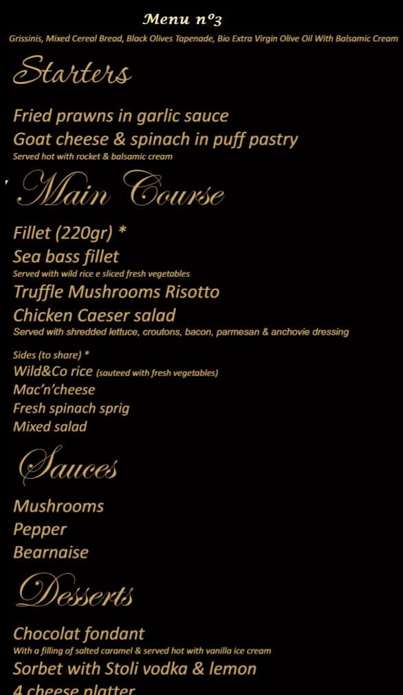 Wild & Co Steakhouse Menu 3 Albufeira