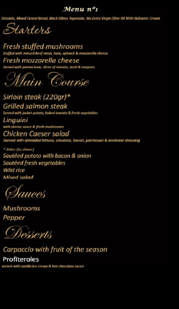 Wild & Co Steakhouse Menu 1 Albufeira